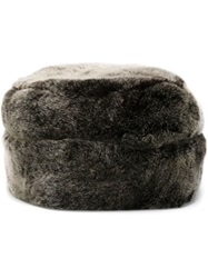 Woolrich Rabbit Fur Hat Grey