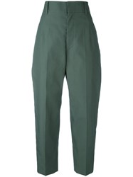Sofie D'hoore High Waisted Trousers Women Cotton 40 Green