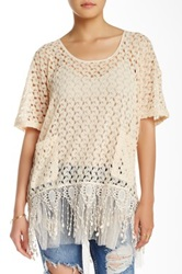Ryu Crochet Short Sleeve Tunic White