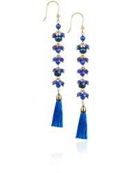 Rosantica Blue Beaded Etna Earrings