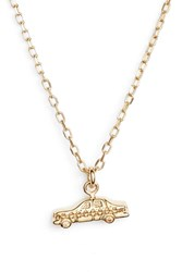 Marc Jacobs Something Special Taxi Pendant Necklace Gold