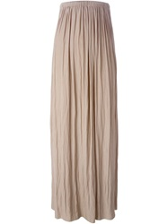Lanvin Volume Maxi Skirt Nude And Neutrals