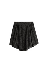 Olympia Le Tan Asymmetric Skirt With Silk Black