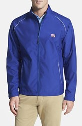 Men's Big And Tall Cutter And Buck 'New York Giants Beacon' Weathertec Wind And Water Resistant Jacket