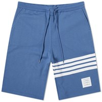 Thom Browne Four Bar Stripe Sweat Short Blue