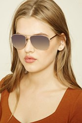 Forever 21 Aviator Sunglasses Gold Silver