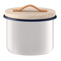 Lsa International Utility Container And Ash Lid Milk White