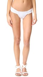 Mara Hoffman Side Ruched Bikini Bottoms White