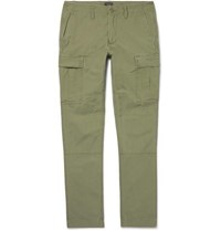 J.Crew Cotton Ripstop Cargo Trousers Green