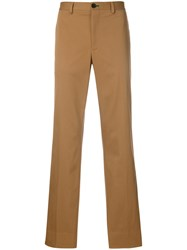 Paul Smith Ps By Straight Leg Trousers Men Cotton Spandex Elastane 36 Nude Neutrals