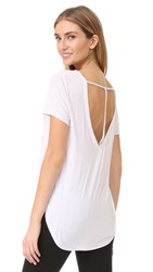 Chaser T Back High Low Tee White