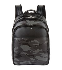 Montblanc Leather Camo Backpack Grey