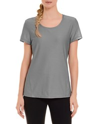 Danskin Textured Tee Concrete Grey