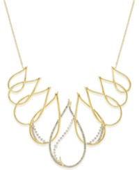 Eliot Danori Gold Tone Crystal Teardrop Collar Necklace