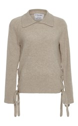 Frame Denim Le Side Tie Sweater Tan