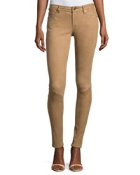 Ag Jeans Suede Low Rise Extra Skinny Leggings Cam Tan
