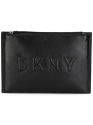 Dkny Embossed Logo Clutch Black