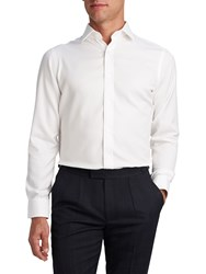 T.M.Lewin Men's Tm Lewin Non Iron Fitted White Oxford Button Cuff Shirt White