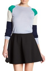 Cynthia Rowley Cashmere Colorblock Cropped Sweater Beige