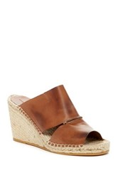 Charles David Owen Espadrille Wedge Sandal Brown