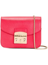 Furla Mini Metropolis Crossbody Red