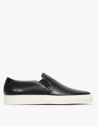 Common Projects Slip On In Leather Black