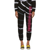 Ashley Williams Black And White Tie Dye 'Where Will You Spend Eternity' Lounge Pants
