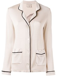 Laneus Knit Cardigan Blazer Women Acetate Viscose 38 Nude Neutrals