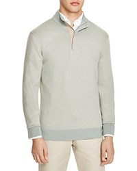The Men's Store At Bloomingdale's Cotton Cashmere Zip Sweater Slate Grey