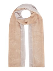 Guess Two Tone Long Scarf White