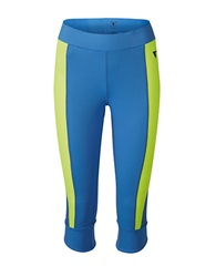 Y.A.S Colorblocked Cropped Athletic Pants Regatta