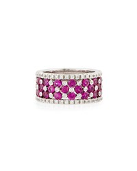 Lc Estate Jewelry Collection Estate Favero 18K Pink Sapphire And Diamond Band Ring Women's