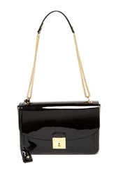 Marc Jacobs Polly Patent Leather Handbag Black