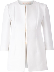 Marni Fitted Blazer White