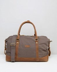 Forbes And Lewis Canvas Somerset Holdall In Grey Grey