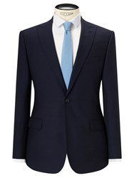 John Lewis Kin By Risdon Jacquard Weave Slim Fit Suit Jacket Navy