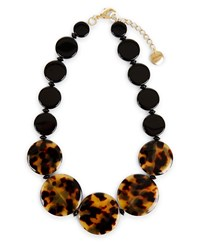 Jaeger Tabitha Flat Bead Necklace Brown