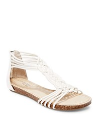 Me Too Cali Leather Sandals White