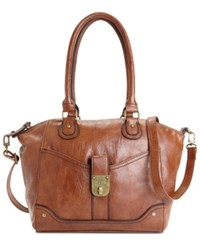 Styleandco. Style And Co. Twistlock Satchel Crossbody Whiskey