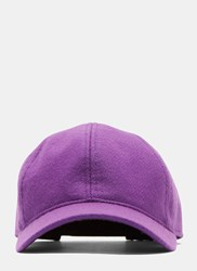 Ami Alexandre Mattiussi Six Panel Felted Cap Purple