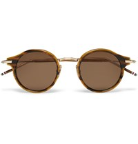 Thom Browne Round Frame Tortoiseshell Acetate And Metal Sunglasses Tortoiseshell