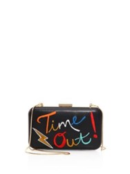 Alice Olivia Shirley Embroidered Leather Frame Clutch Multi