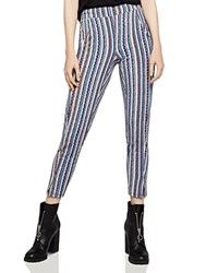 Bcbgeneration Basketweave Stripe Track Pants Navy Multi