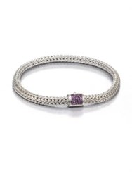 John Hardy Classic Chain Amethyst And Sterling Silver Extra Small Bracelet Silver Amethyst