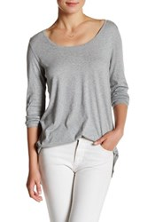 Abound Long Sleeve Basic Tee Gray