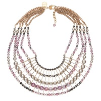 Nadia Minkoff Statement Bib Necklace Lilac Pink Purple