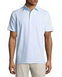 Peter Millar Halford Striped Stretch Jersey Polo Shirt White Blue