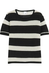 Iris And Ink Striped Cashmere Sweater Midnight Blue