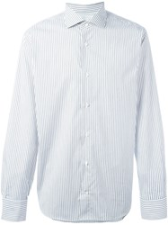 Eleventy Striped Button Down Shirt Grey