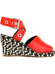 Proenza Schouler Wedge Espadrilles Yellow And Orange